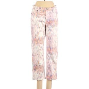 Christopher Blue Cropped white pink 10 pants jeans